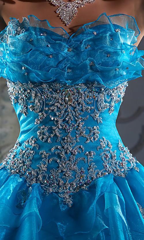 Unique Blue Design Dress