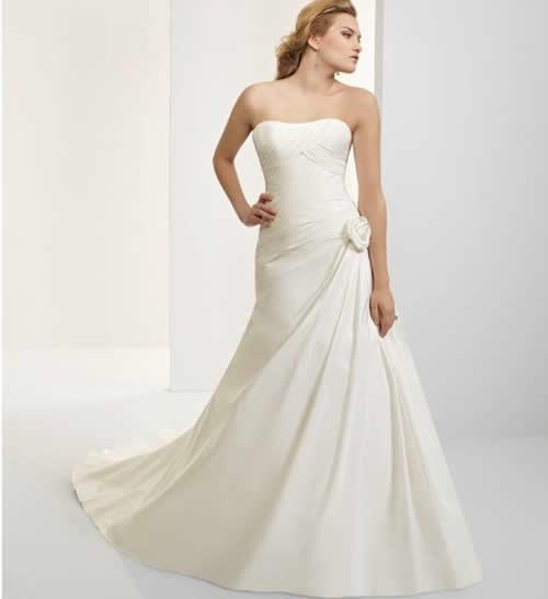 White Western Bridal Gown