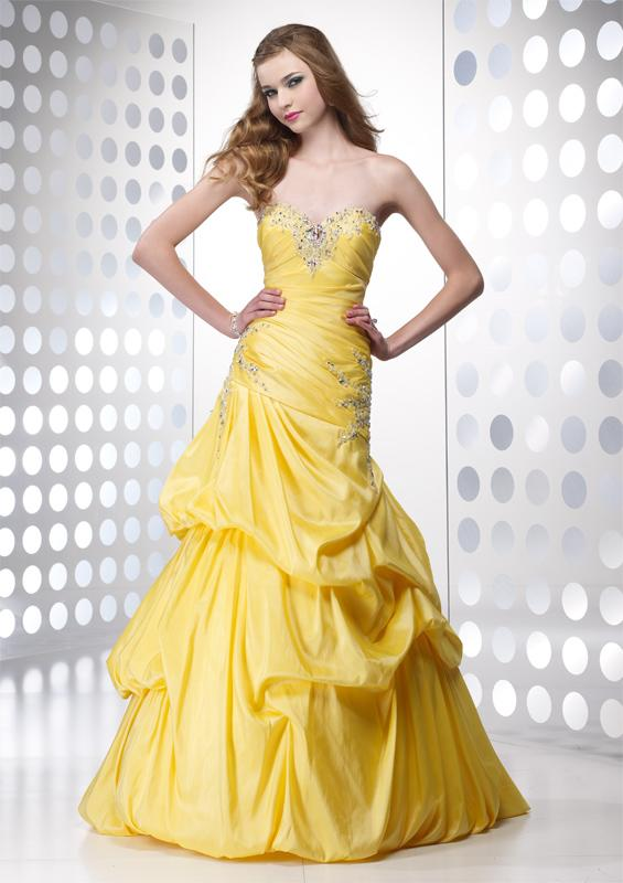 Yellow wedding dresses for bride
