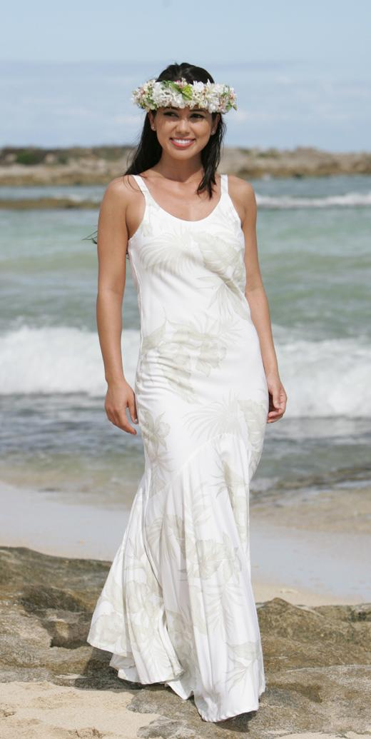A Hawaiian wedding dress must speak of the island 39s romantic and tropical
