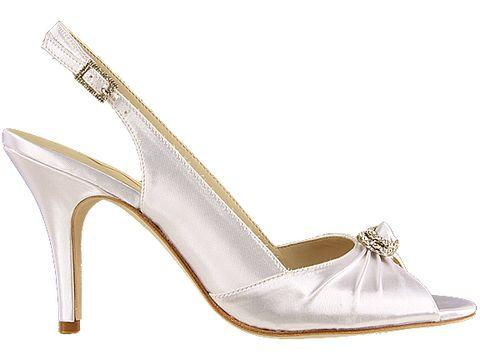 slingback wedding shoes