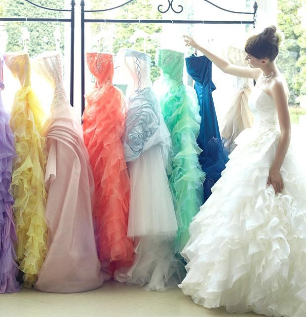 Colored Acqua Grazie Wedding Dresses