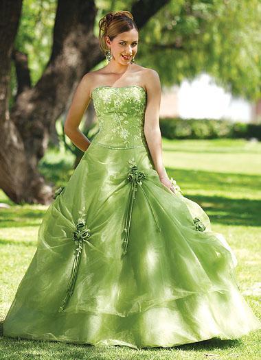 Green Wedding Dress For Bride