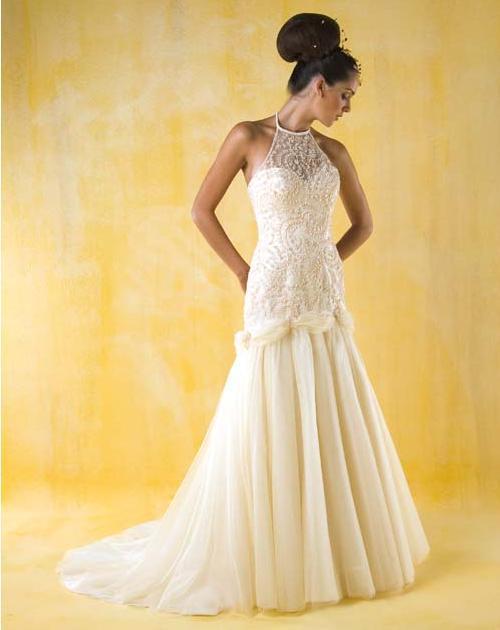 Romantic bridal wedding dress