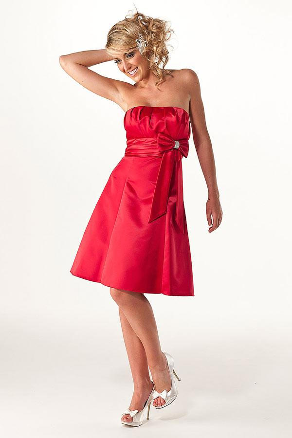 Short red bridesmaid dresses
