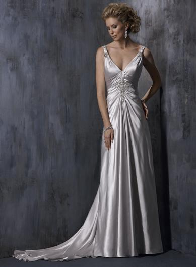 Silver wedding dresses wedding dresses guide for Silver wedding dresses 25th anniversary