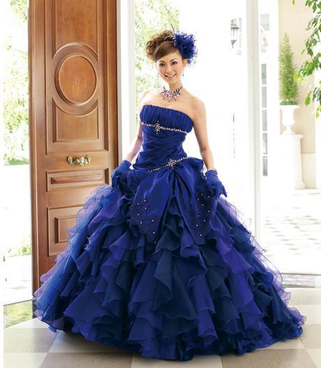 acqua grazie color wedding dresses