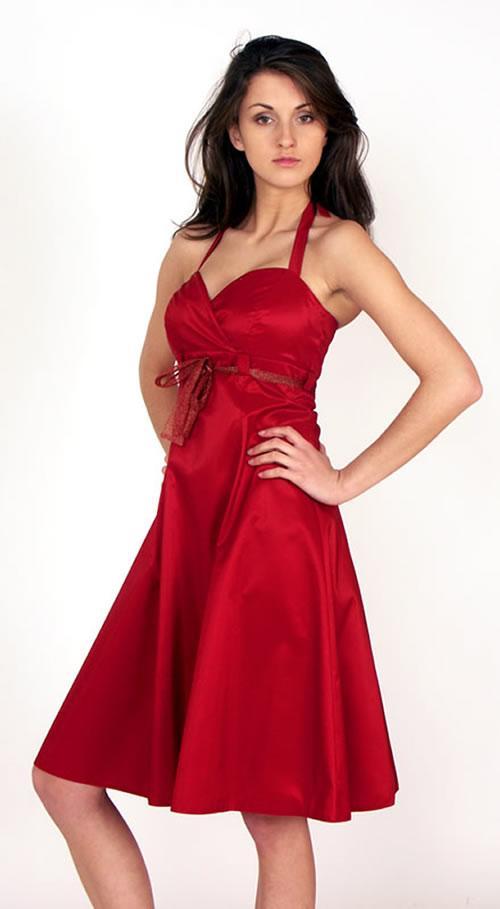 best red bridesmaid dresses