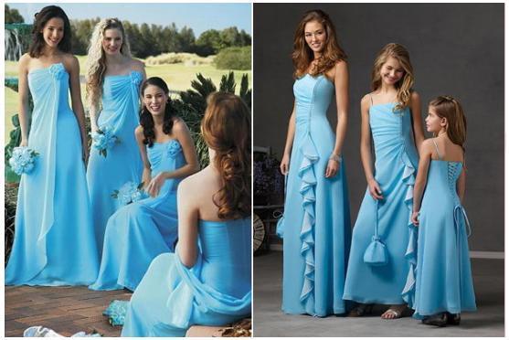 bridesmaid blue dresses
