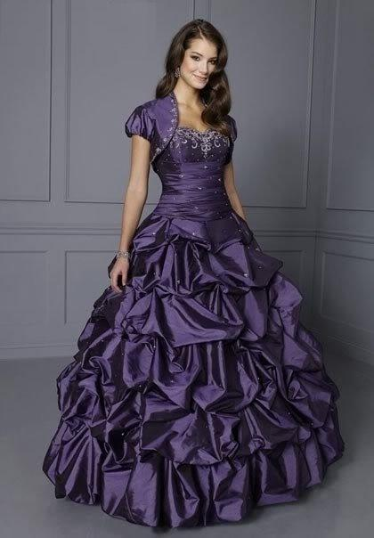 Purple Bridal Dresses