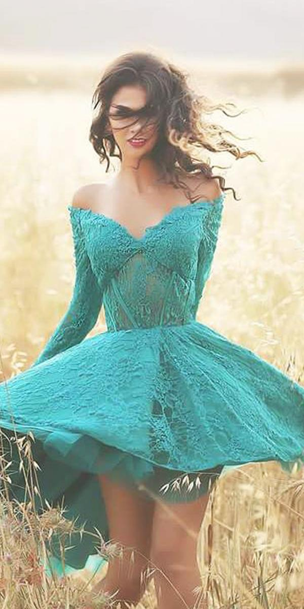 green wedding dresses off the shoulder short mint eden haute couture