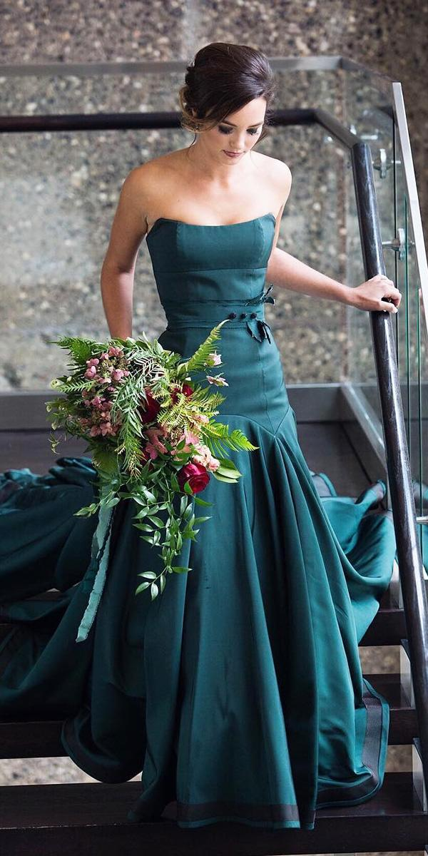 18 Green Wedding Dresses For Non Traditional Bride Wedding Dresses Guide