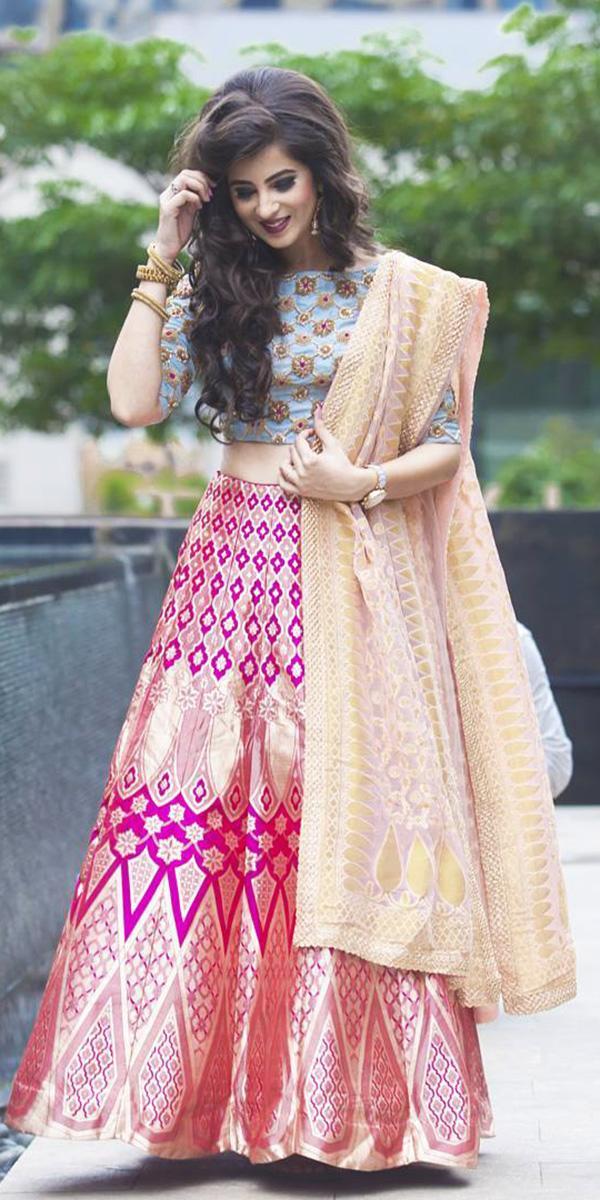 indian wedding dresses brdal lehenga detached skirt kalki fashion