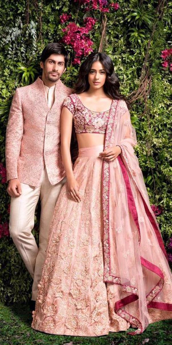 indian wedding dresses lehenga with floral top cape somaindian bridal