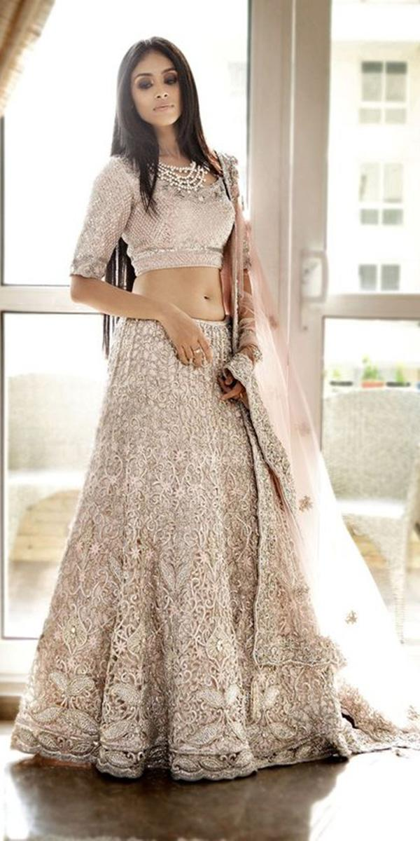 indian wedding dresses lehenga with three quote sleeves lace pam mehta