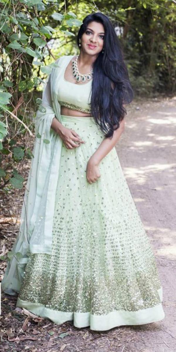indian wedding dresses white detached skirt prathy usha garimella