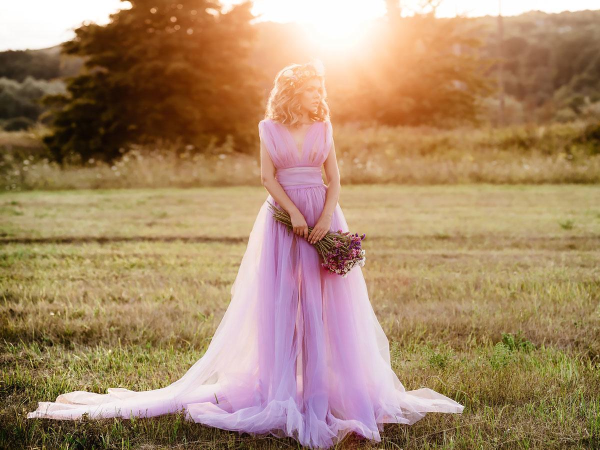 purple wedding dresses featured