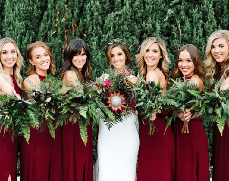 red bridesmaid dresses featured alysha miller photography