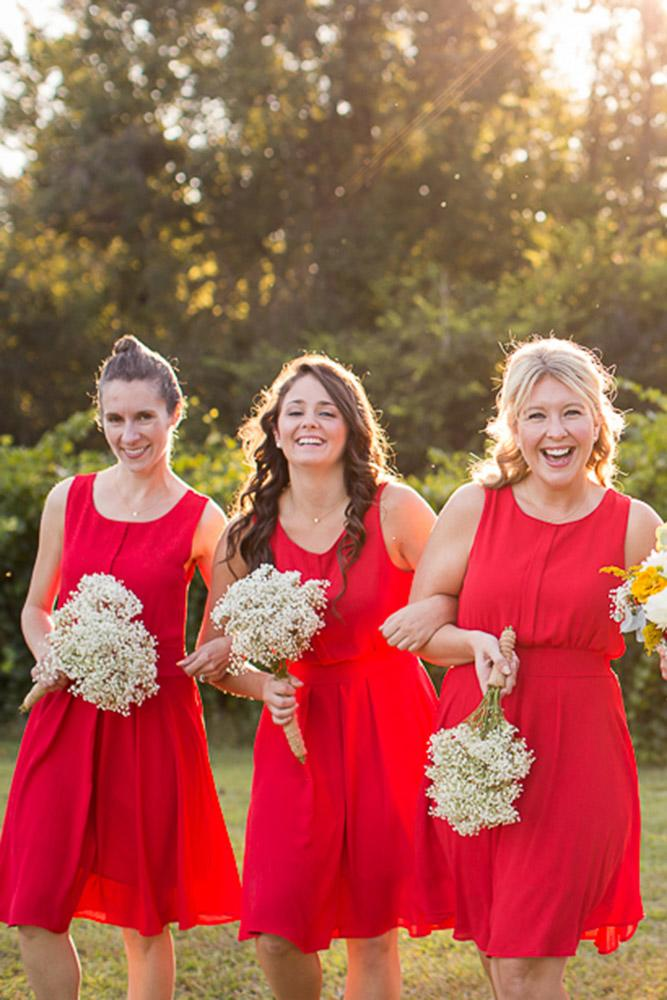 red bridesmaid dresses short simple sleveeless grace hill photography