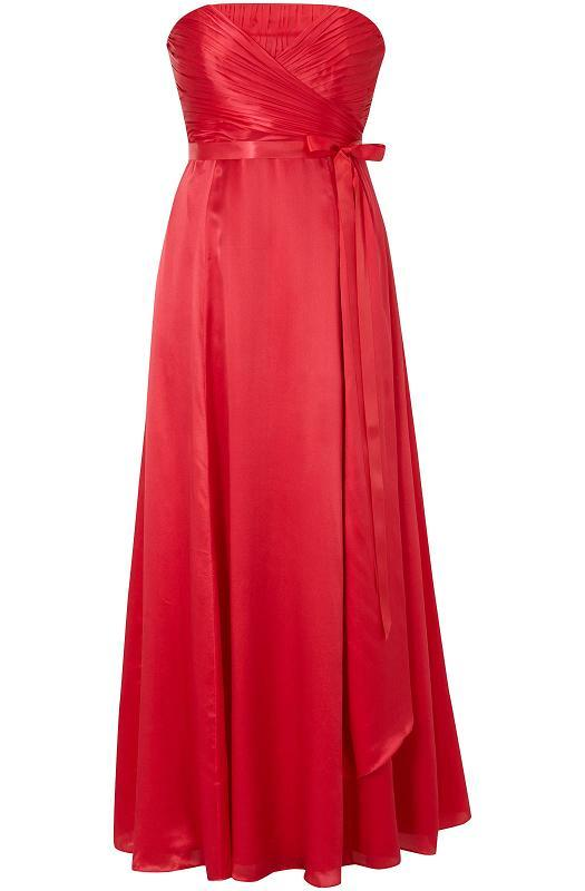 red maxi bridesmaid dress