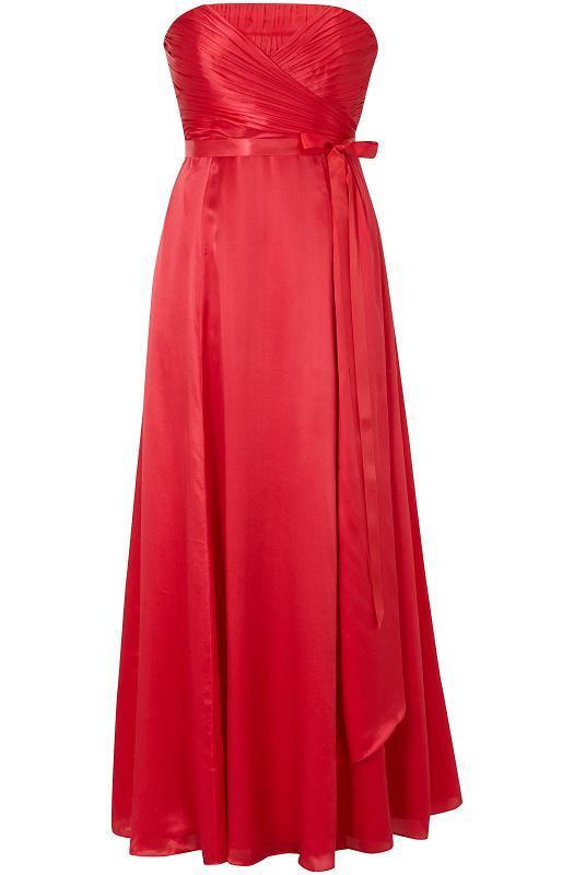 red maxi bridesmaid dress