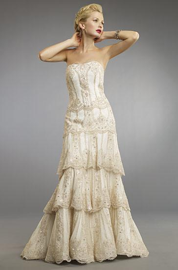 Champagne Wedding Dresses Styles