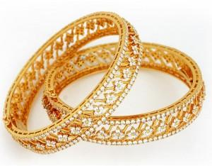 Diamonds Bangles For Bride