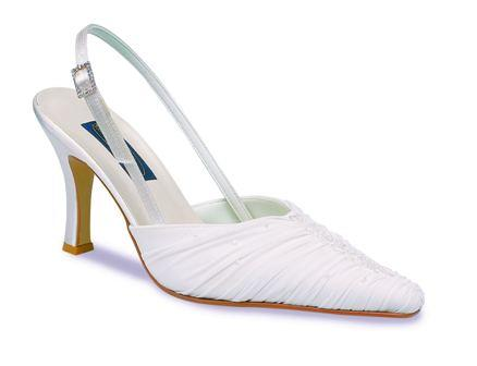 Ivory Satin Chiffon Wedding Shoes
