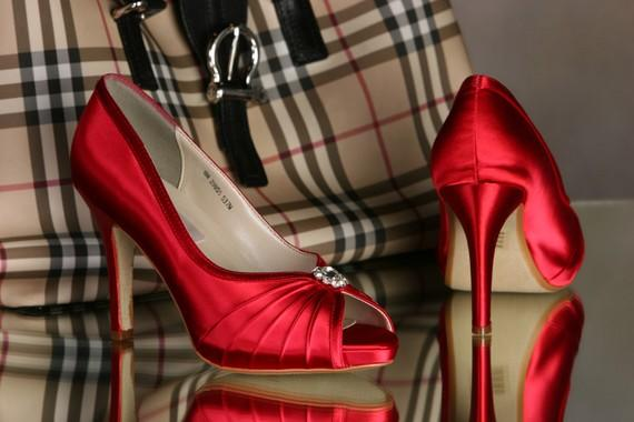 Red Satin Wedding Shoes