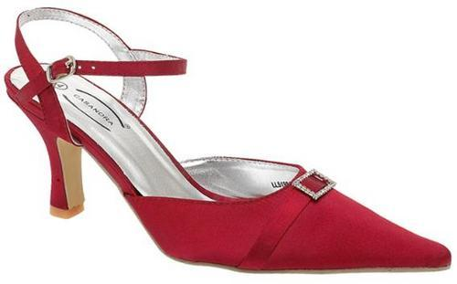 Red Wedding Satin Shoes