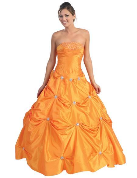Royal Orange Wedding Dresses