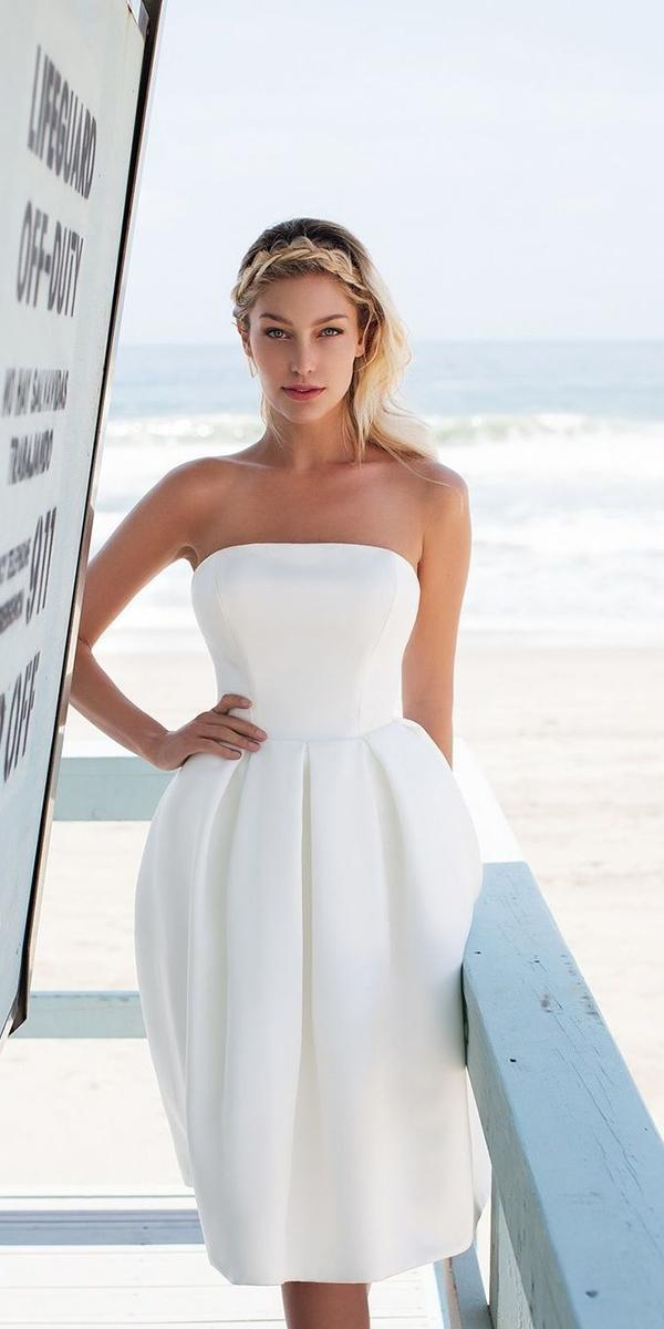 ashort wedding dresses straight across simple riamo bridal