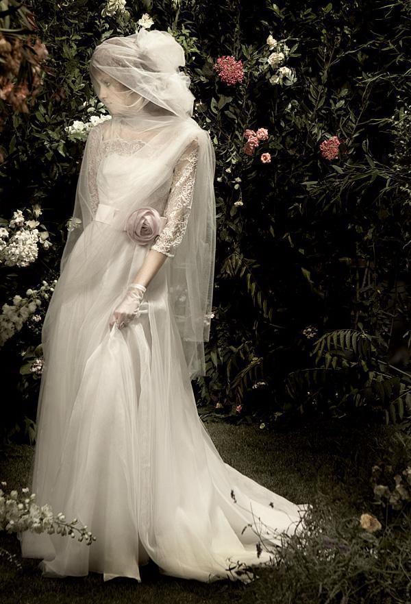 blumarine wedding gown for garden