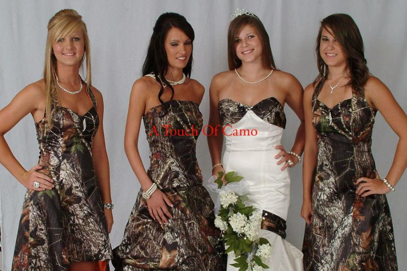 camo bridal wedding dresses