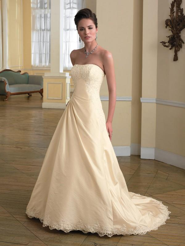champagne wedding dress design