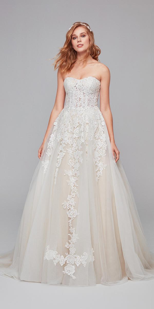 cheap oleg cassini wedding dresses a line strapless floral ivory cheap