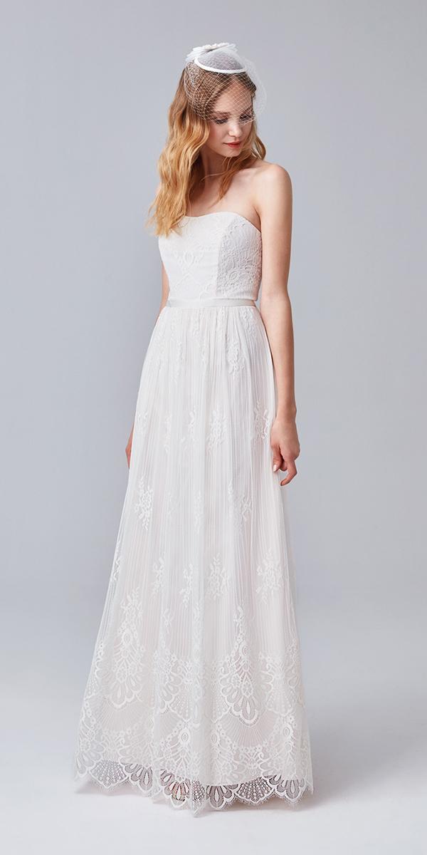 cheap oleg cassini wedding dresses sheath strapless lace