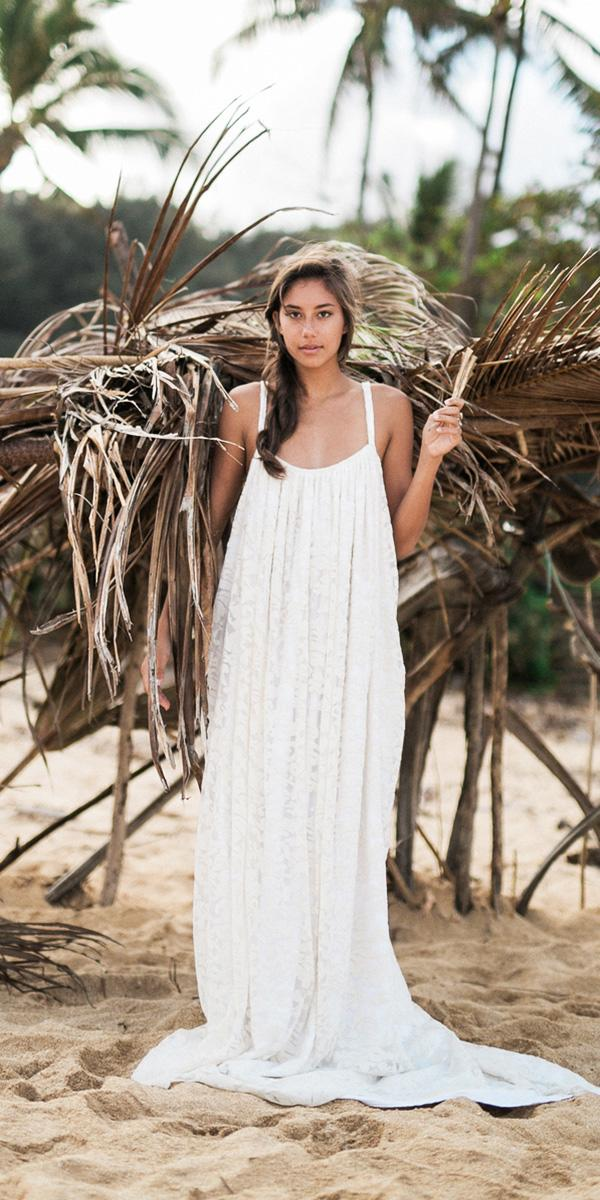 hawaiian wedding dresses with spaghetti straps boho what a day photography