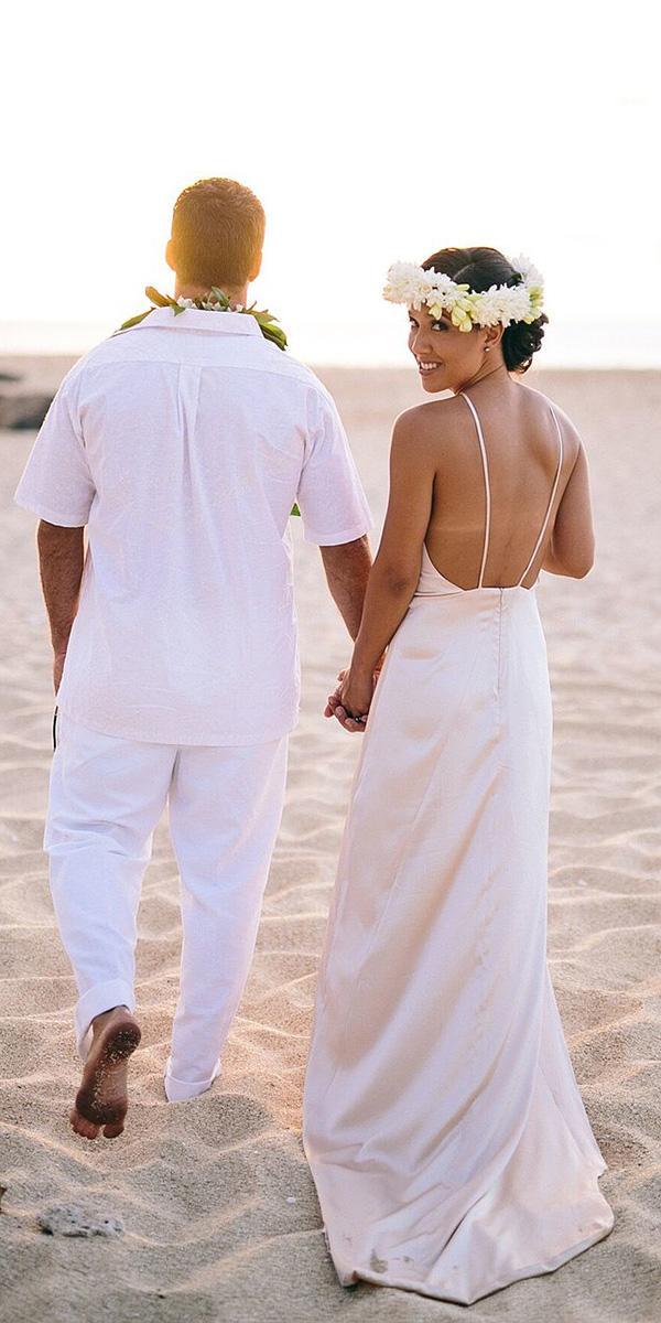 hawaiian wedding dresses with spaghetti straps simple beach silk ed sheeran