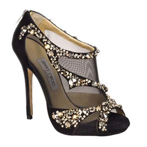 jimmy choo wedding shoes black