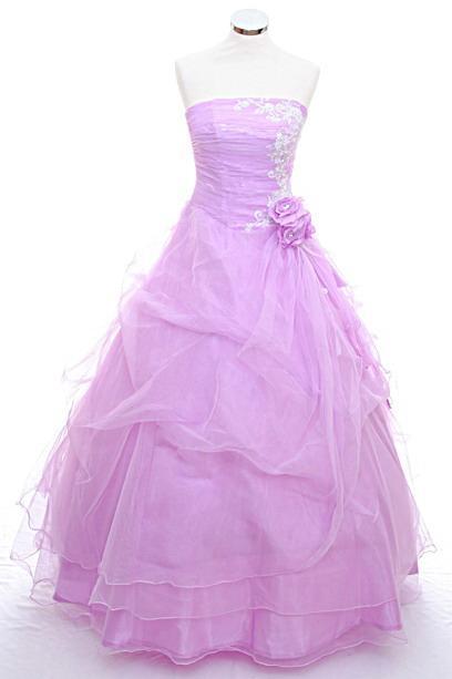lilac wedding dresses