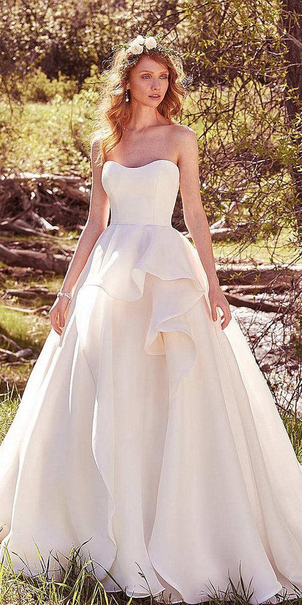 maggie sottero wedding dresses 2017 a line sweetheart simple elegant