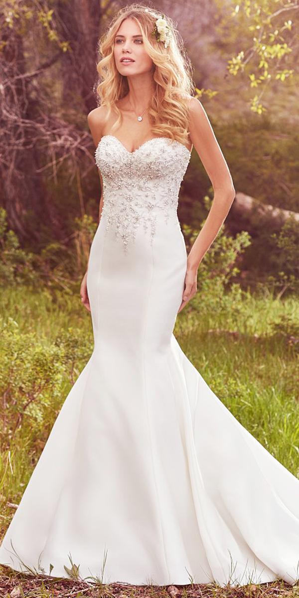 maggie sottero wedding dresses 2017 mermaid sweetheart beaded romantic