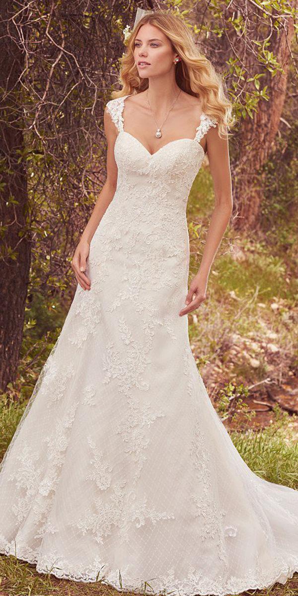 maggie sottero wedding dresses 2017 sheath sweetheart romantic lace embellishment