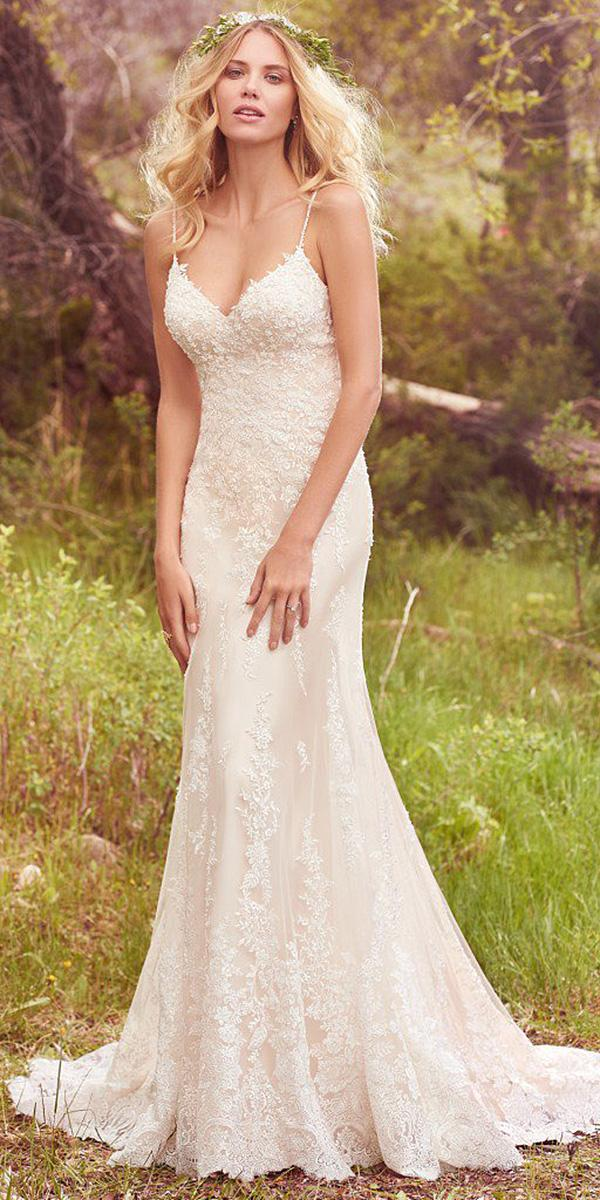 maggie sottero wedding dresses 2017 swethart with spaghetti straps full lace