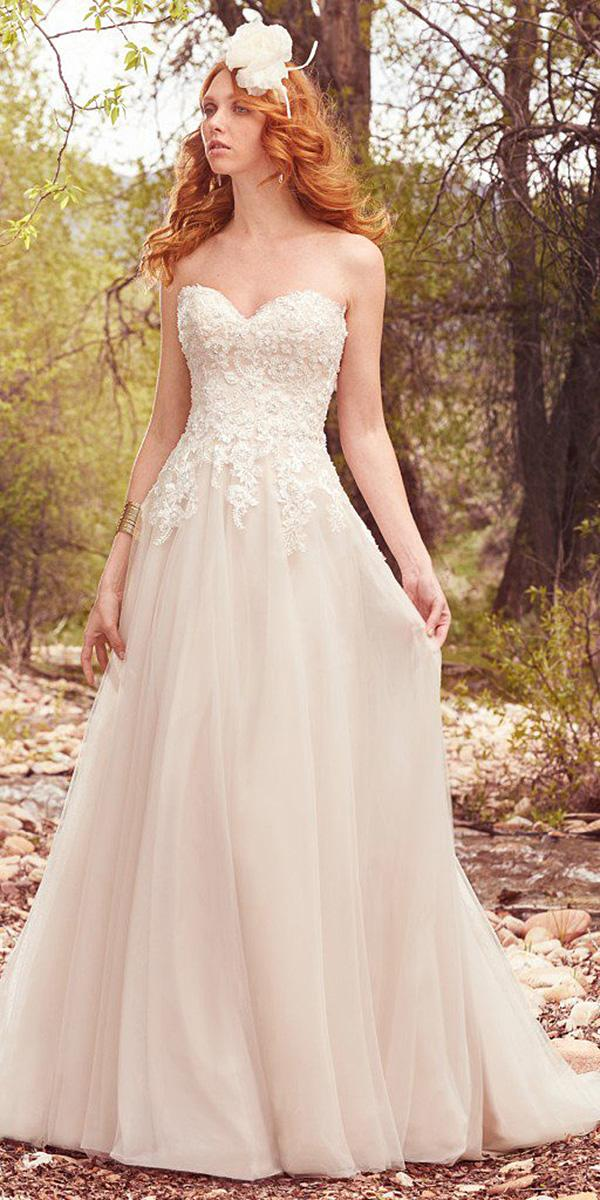 maggie sottero wedding dresses a line sweetheart lace avery 2017