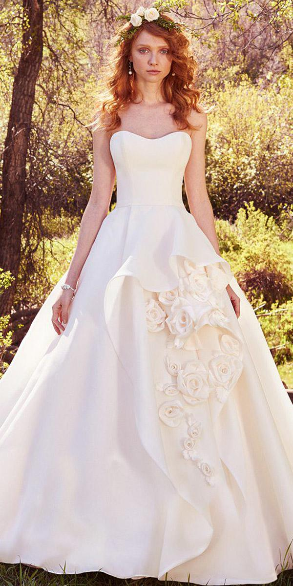 maggie sottero wedding dresses a line sweetheart with floral appliques