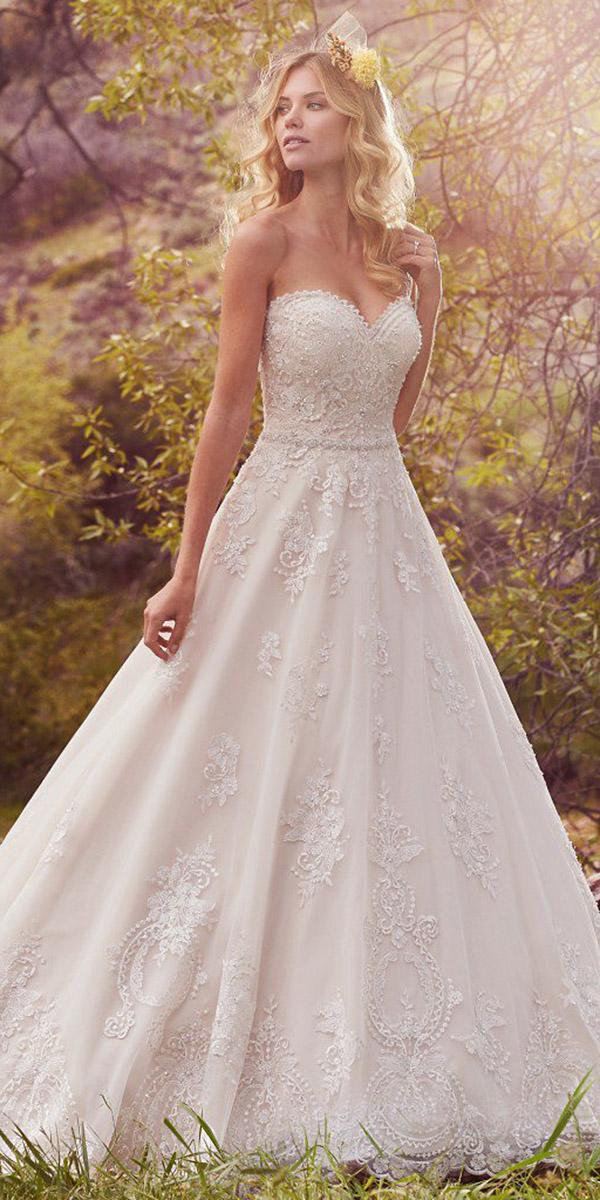maggie sottero wedding dresses a line sweetheat beaded floral embellishment 2017
