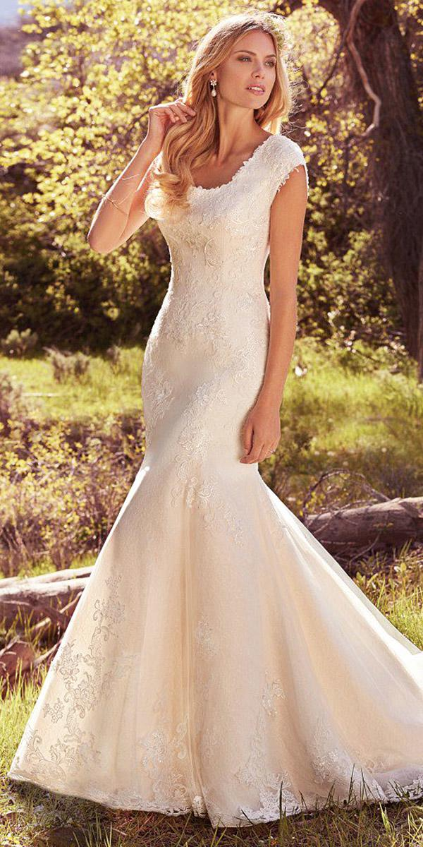 maggie sottero wedding dresses mermaid lace embellishment avery 2017