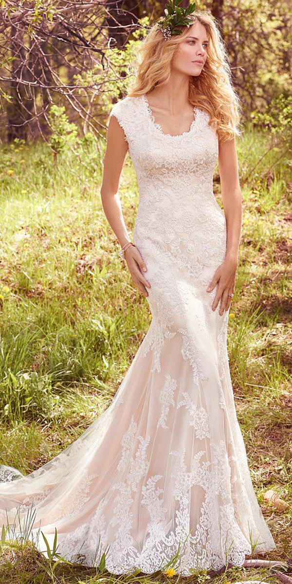 maggie sottero wedding dresses mermaid lace floral avery 2017